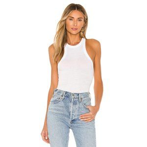 NWT Free People Wide Eyed Tank Top in White Medium